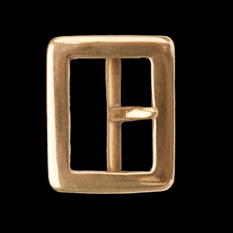 Brass buckle single tongue