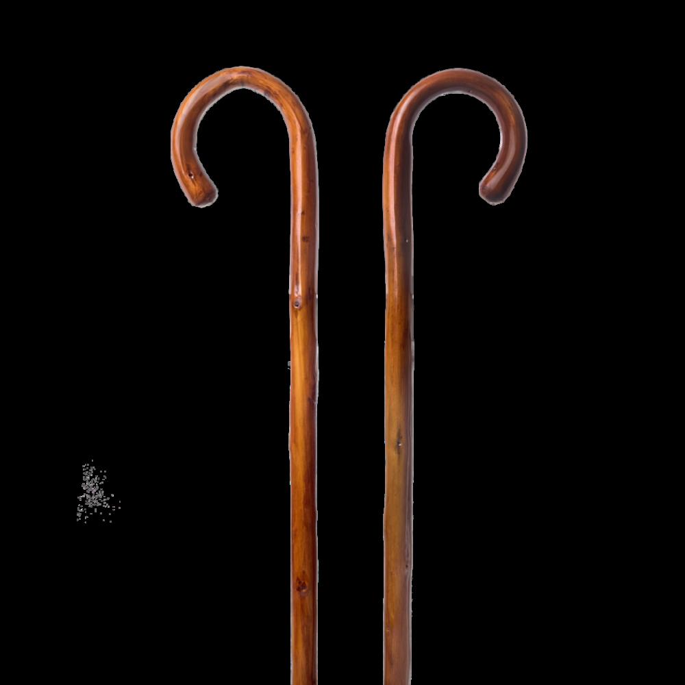Μπαστούνι από ξύλο καστανιάς με βερνίκι