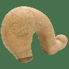 Κεφαλή γκλίτσας με σκαλιστή μορφή από ξύλο σφενδάμου