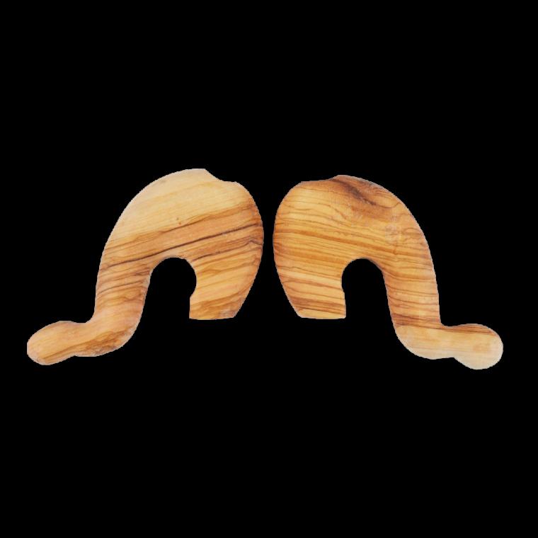 Κεφαλή γκλίτσας από ξύλο ελιάς